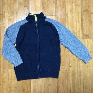 OshKosh Full Zip Sweater navy grey 5T